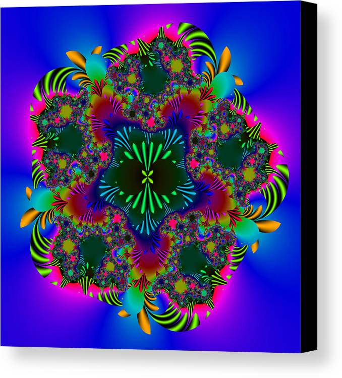 Fractal Canvas Print featuring the digital art Prettering by Andrew Kotlinski