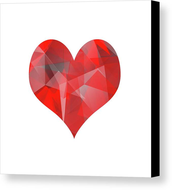 Heart Canvas Print featuring the digital art Pulsing Heart by Jack Fleming