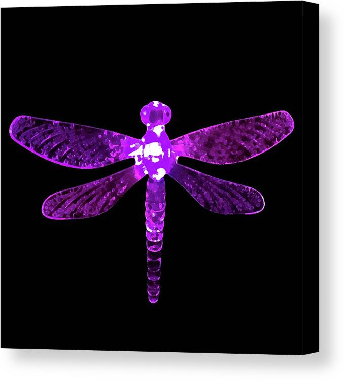 Purple Dragonfly Canvas Print