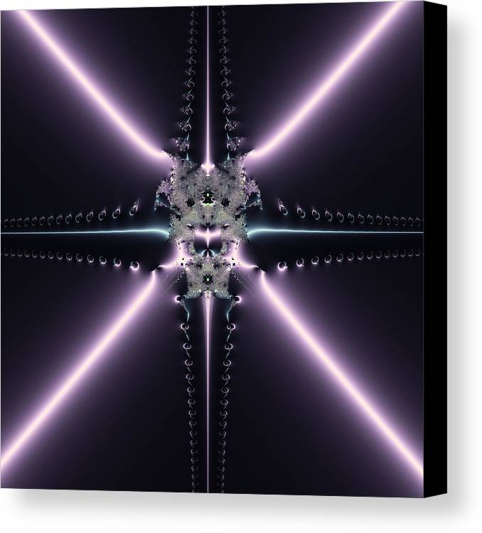 Fractal Canvas Print featuring the digital art Purple Fantasy by Design Windmill