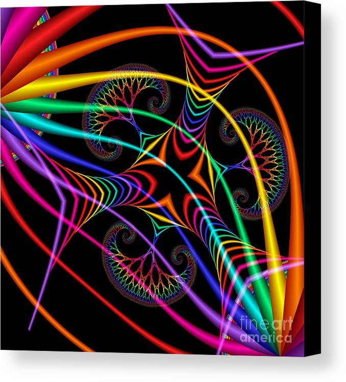 3d Canvas Print featuring the digital art Quite In Different Colors -3- by Issabild -