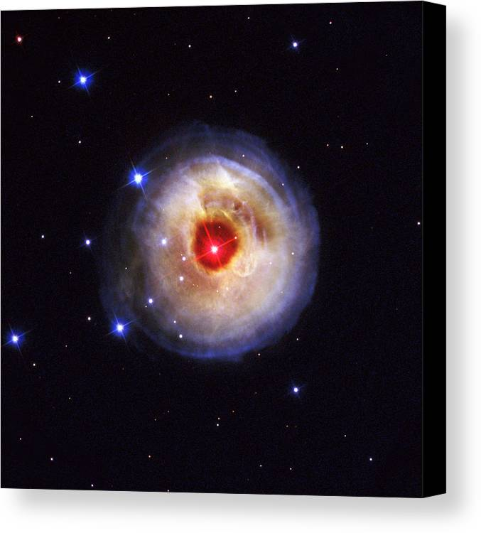 Galaxy Canvas Print featuring the photograph Radiation From A Stellar Burst by ESA and nASA