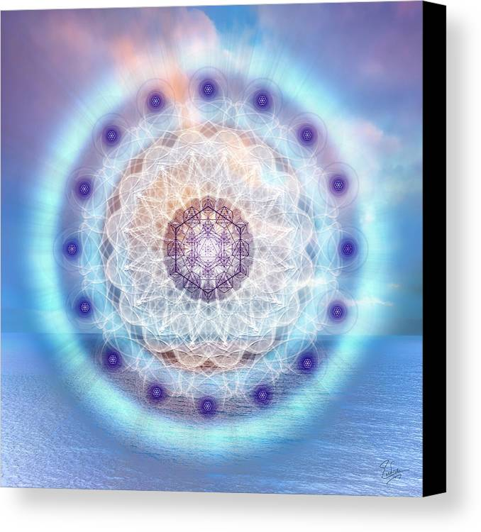 Endre Canvas Print featuring the digital art Sacred Geometry 564 by Endre Balogh