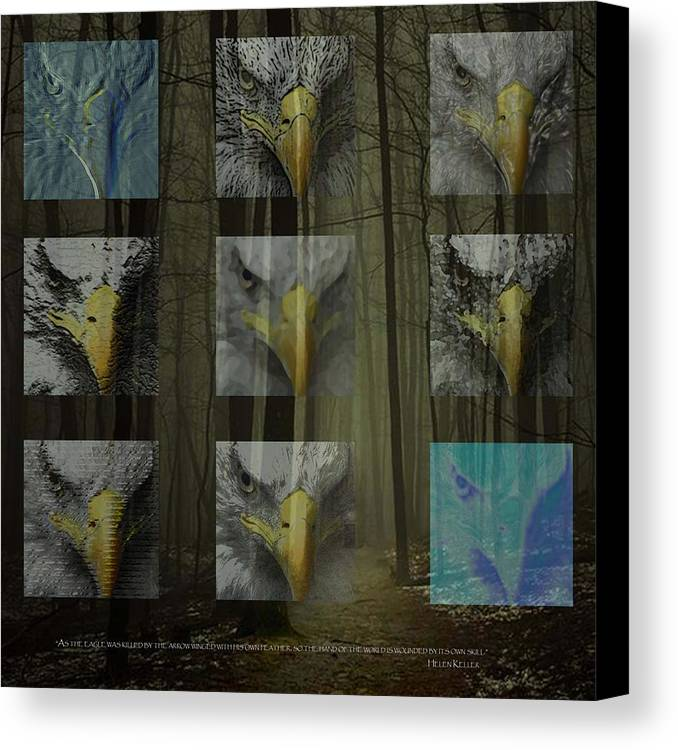 Forest Canvas Print featuring the digital art Save The Forests by Tammera Malicki-Wong