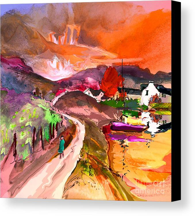 Scotland Paintings Canvas Print featuring the painting Scotland 02 by Miki De Goodaboom