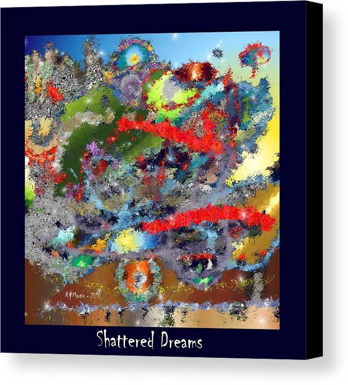 Contemporary Canvas Print featuring the painting Shattered Dreams by Roberta Martin
