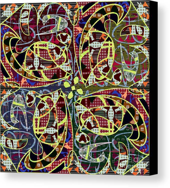 Mkatz Canvas Print featuring the digital art Some Harmonies And Tones 89 by MKatz Brandt