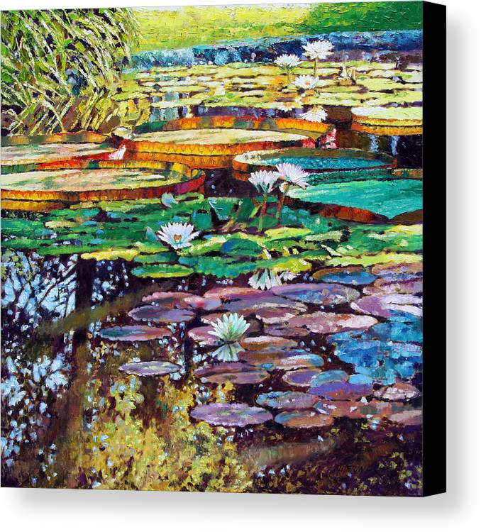 Sunlight Canvas Print featuring the painting Sunlight To Shadows by John Lautermilch