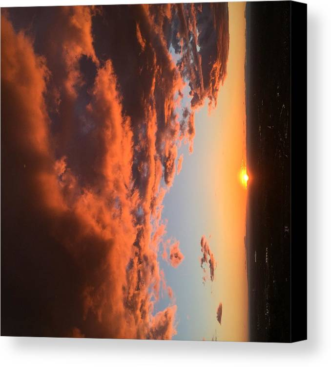 Sunset Canvas Print featuring the photograph Sunset Of The West by Jon Bulotti