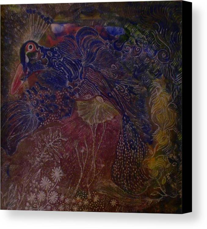 Abstract Canvas Print featuring the painting Tapestry by Heather Hennick