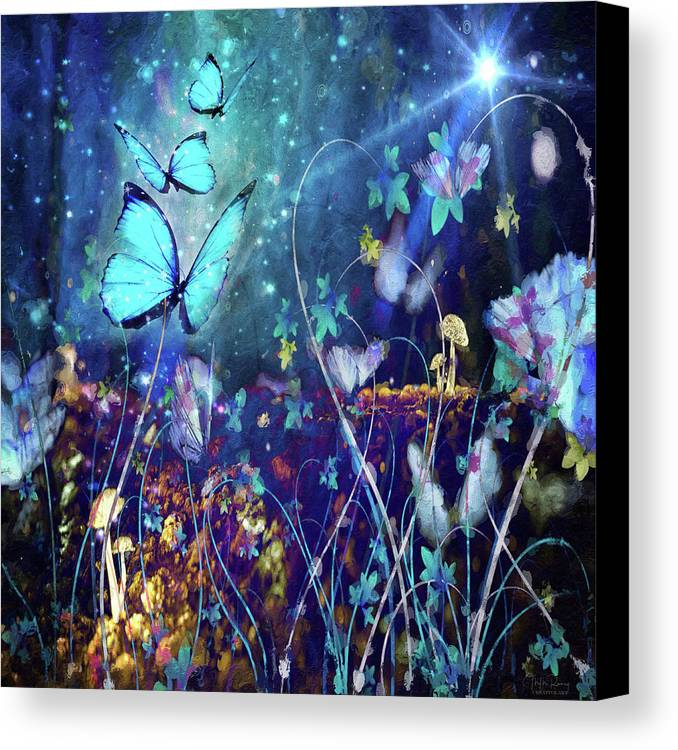 Enchanted Canvas Print featuring the digital art The Enchanted Garden by M M Rainey