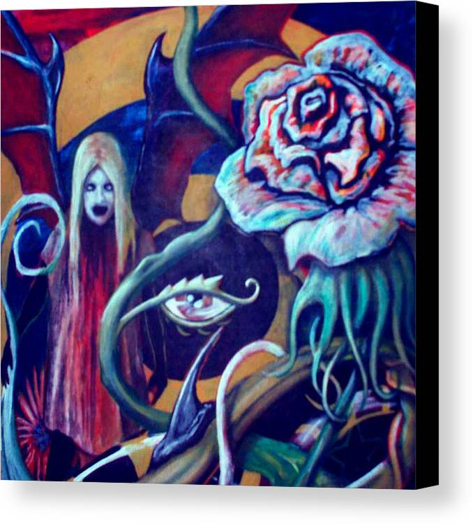 Surreal Canvas Print featuring the painting The Flower That Is Life by Will Le Beouf