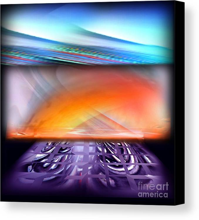 Moon Canvas Print featuring the digital art The Haunted Sky by Tighe O'DonoghueRoss