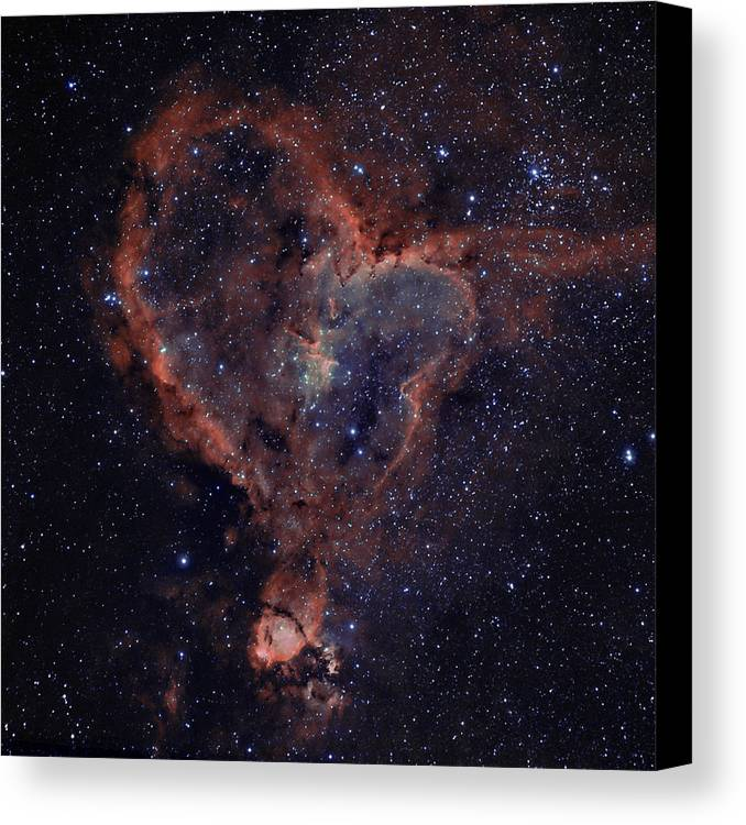 Astronomy Canvas Print featuring the photograph The Heart by Charles Warren