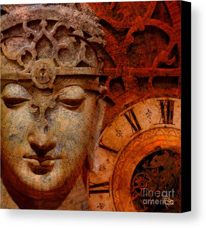 Time Canvas Print featuring the digital art The Illusion Of Time by Christopher Beikmann
