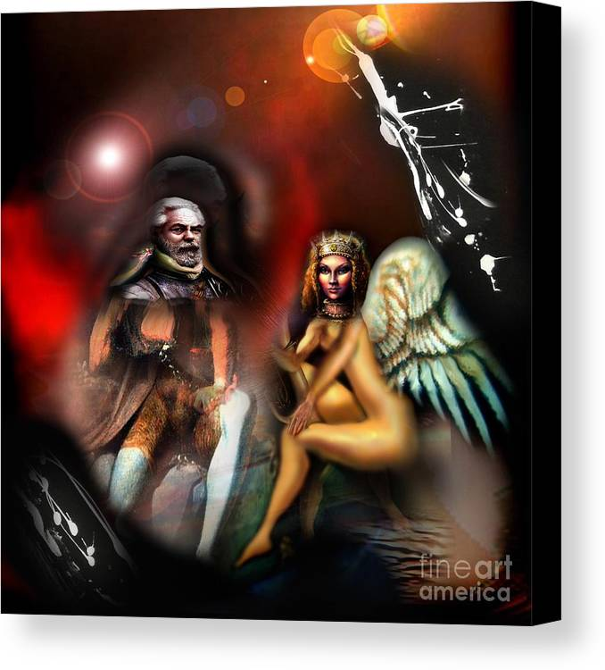 Love Canvas Print featuring the digital art The Lovers by Tighe O'DonoghueRoss