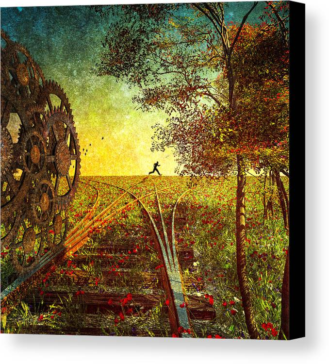 Trains Canvas Print featuring the photograph This Is The Best Part Of The Trip by Bob Orsillo