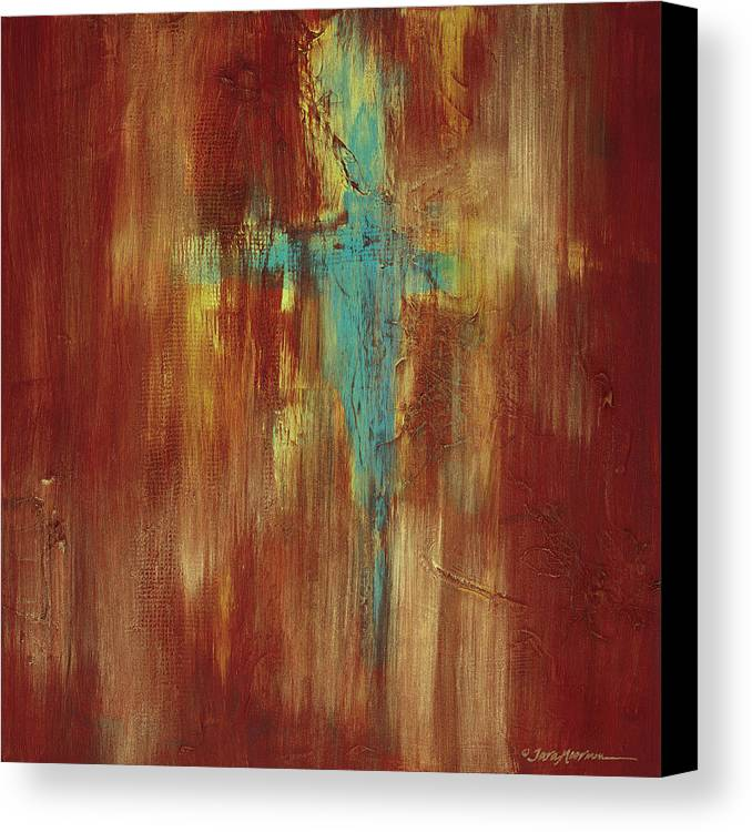 Abstract Canvas Print featuring the painting Vision Quest by Tara Moorman
