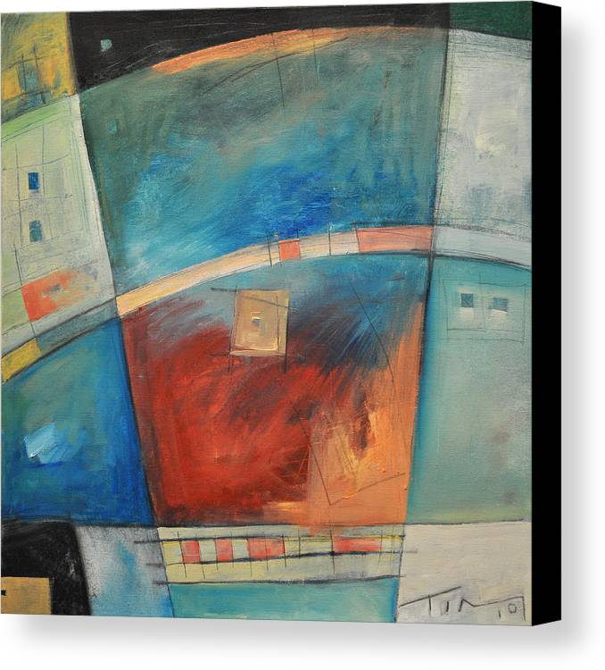 Abstract Canvas Print featuring the painting When Pigs Fly by Tim Nyberg