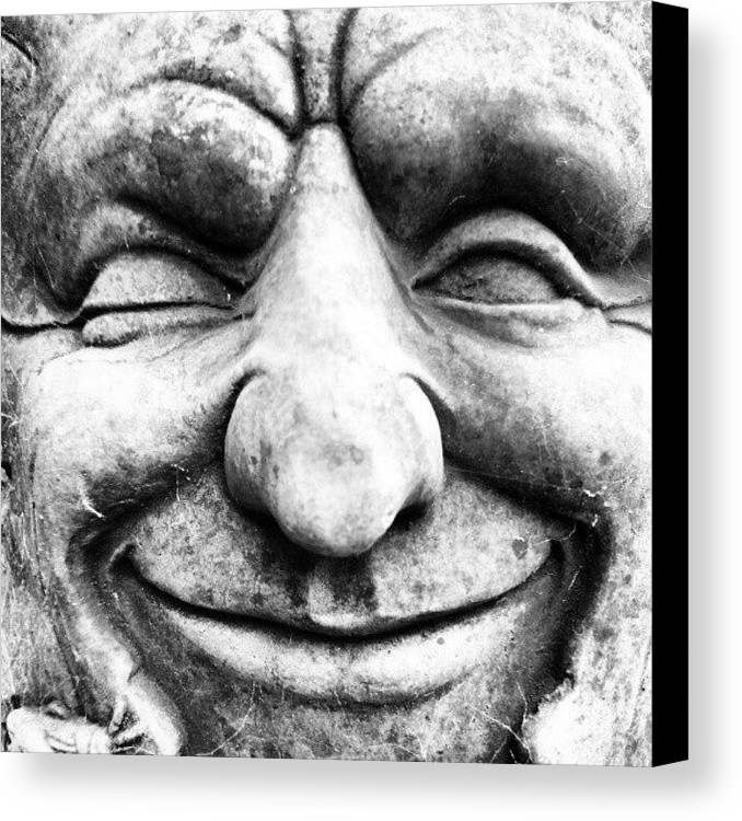Black And White Canvas Print featuring the photograph Wink by Gary Stringer