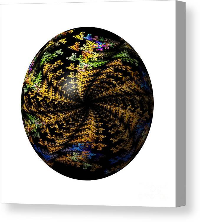 Globe Canvas Print featuring the digital art Abstract Globe by Henrik Lehnerer