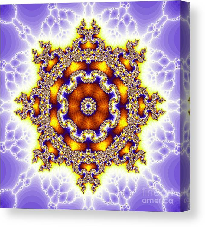 Fracta Canvas Print featuring the digital art The Kaleidoscope by Odon Czintos