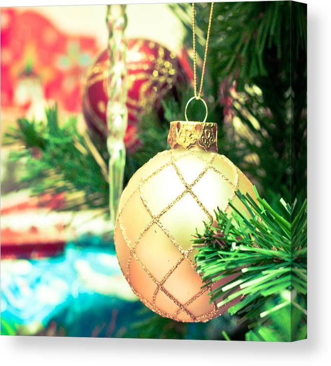 Background Canvas Print featuring the photograph Christmas Tree 2 by Tom Gowanlock