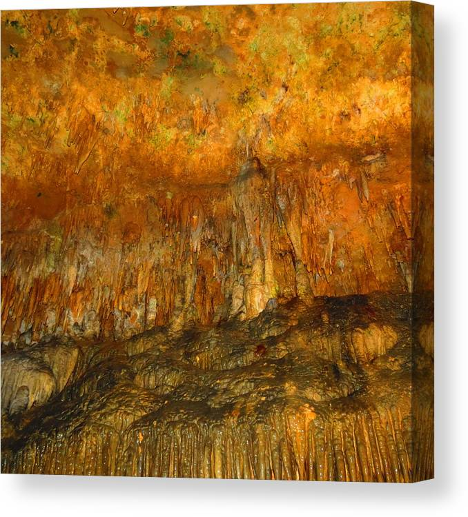 Cavern Canvas Print featuring the photograph Luray Cavern by S Blackhawk