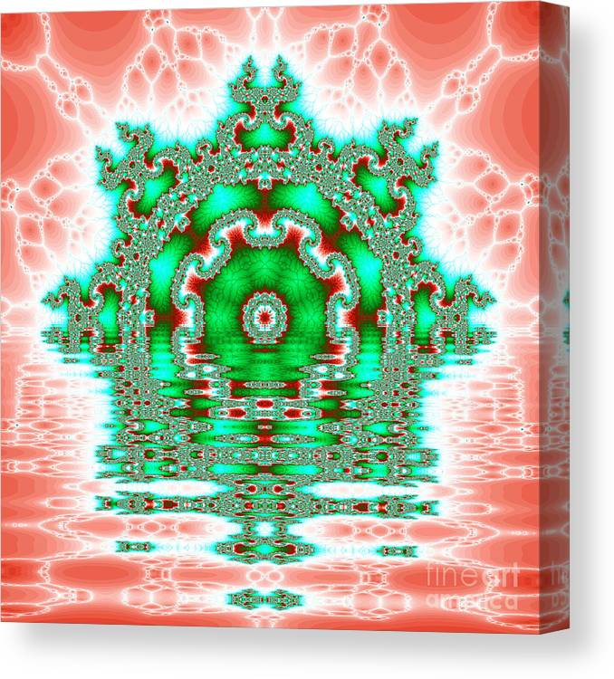 Fracta Canvas Print featuring the digital art The Kaleidoscope Reflections by Odon Czintos