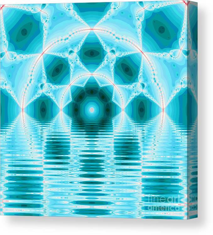 Fracta Canvas Print featuring the digital art Fantasy Fractal by Odon Czintos