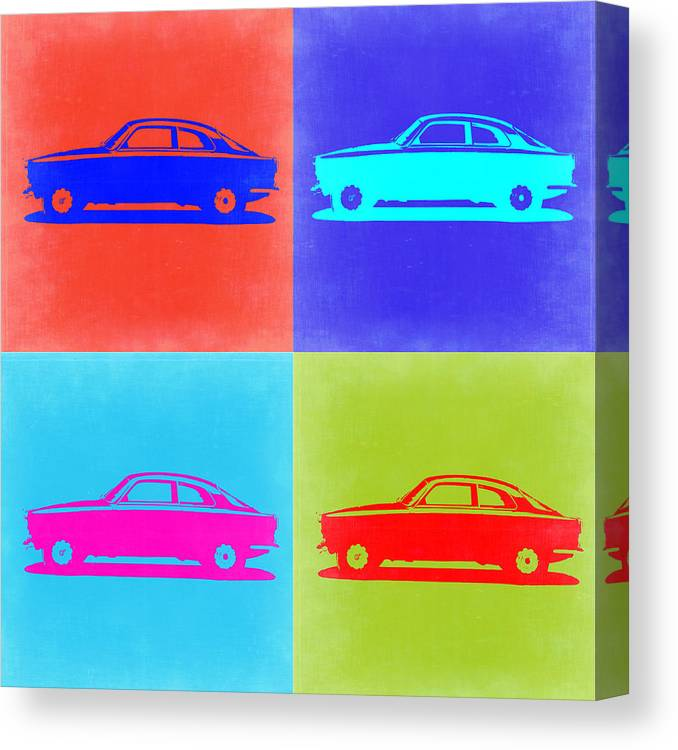 Alfa Romeo Gtv Canvas Print featuring the painting Alfa Romeo Gtv Pop Art 2 by Naxart Studio