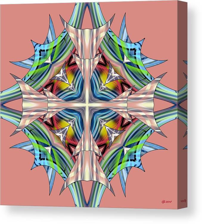 Abstract Canvas Print featuring the digital art Awaken 63 by Brian Johnson