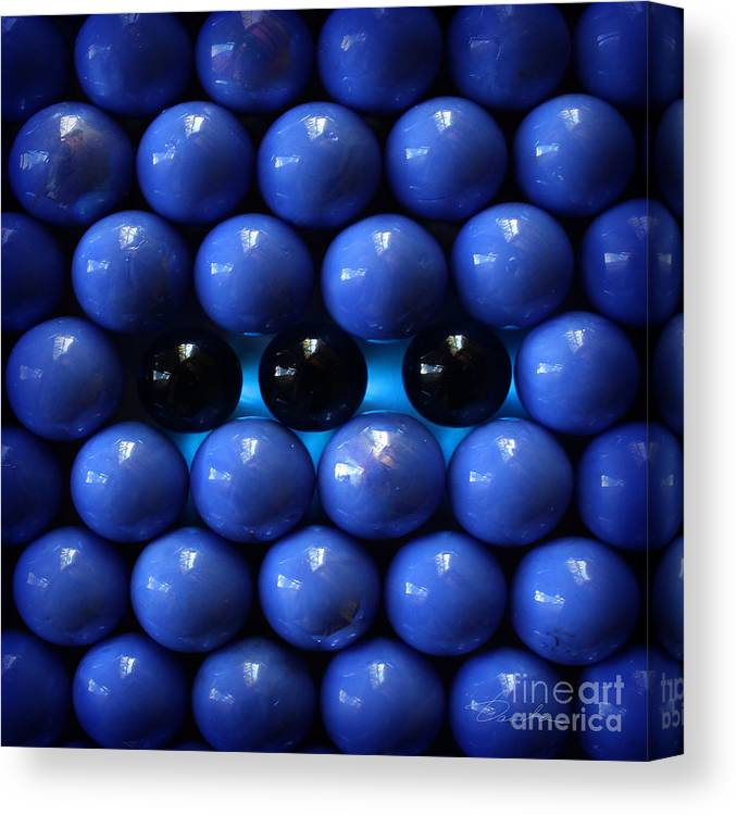 Blue Canvas Print featuring the photograph Breaking The Symmetry by Danuta Bennett