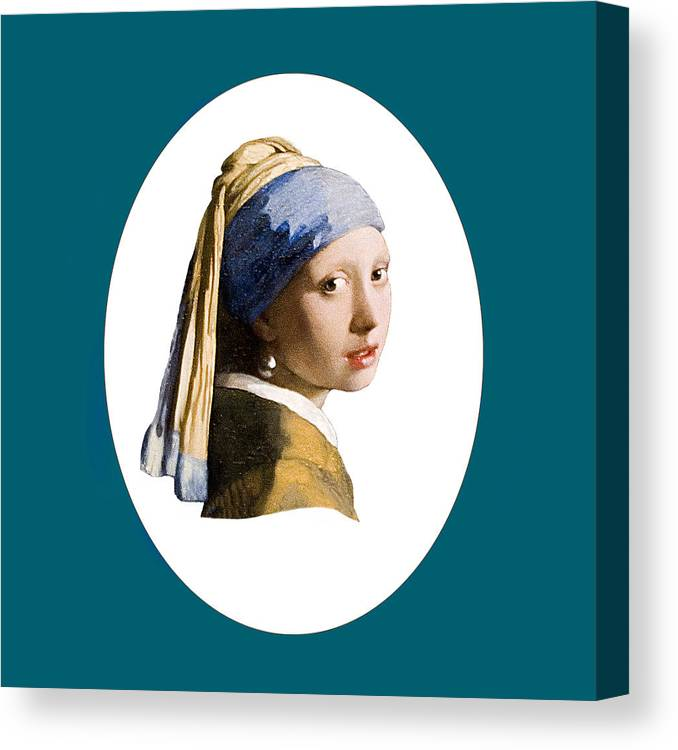 Vermeer Canvas Print featuring the photograph Delft Blue Flip Side by Peter Lloyd