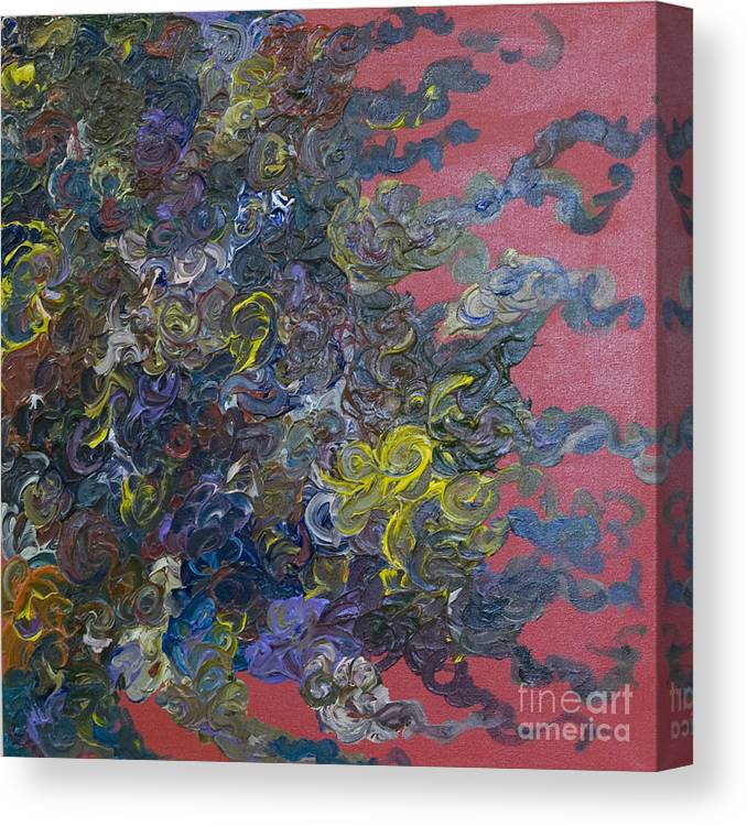 Abstract Canvas Print featuring the painting Dragon's Lair by Jeanne Ward