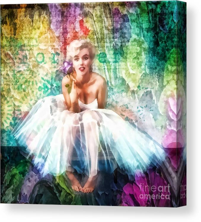 Fragile Canvas Print featuring the painting Fragile by Mo T
