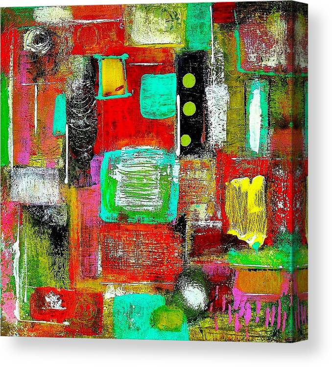 Canvas Print featuring the painting Fun by Paul Sclafani