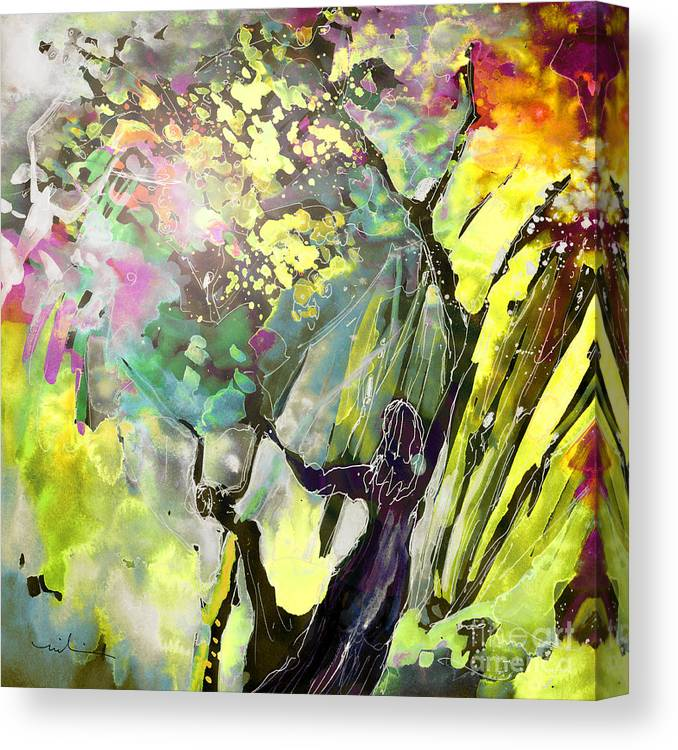 Fantasy Canvas Print featuring the painting Grace Under Pressure by Miki De Goodaboom