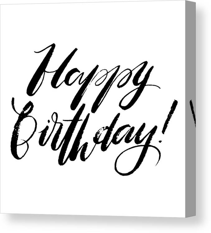 Happy Birthday Words. Hand Drawn Creative Calligraphy And