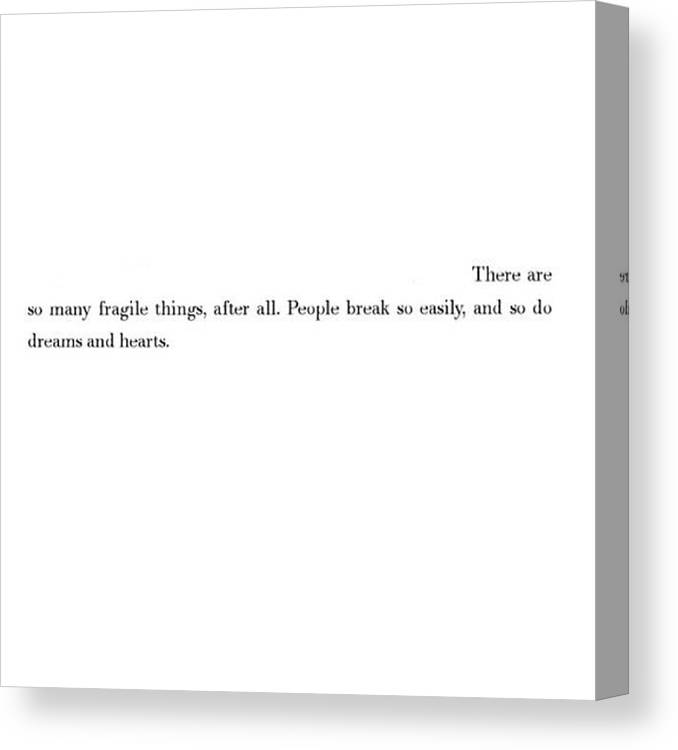 How Deep...... #quotes From #tumblr Canvas Print