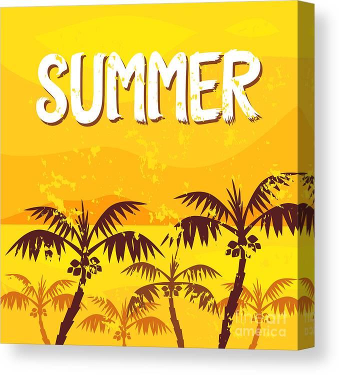 Symbol Canvas Print featuring the digital art Illustration Summer by Yaichatchai