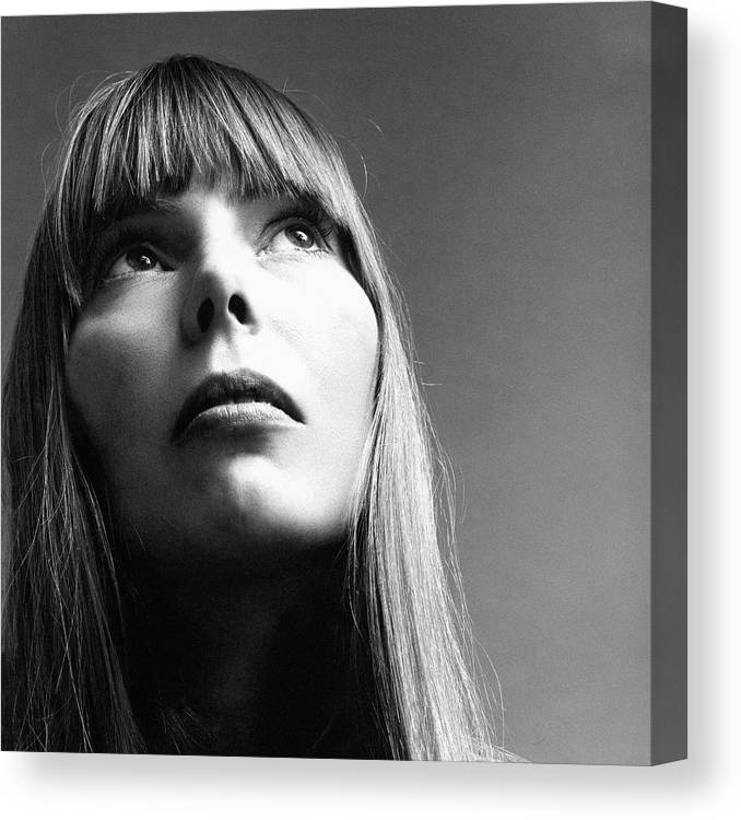 Entertainment Canvas Print featuring the photograph Joni Mitchell by Jack Robinson