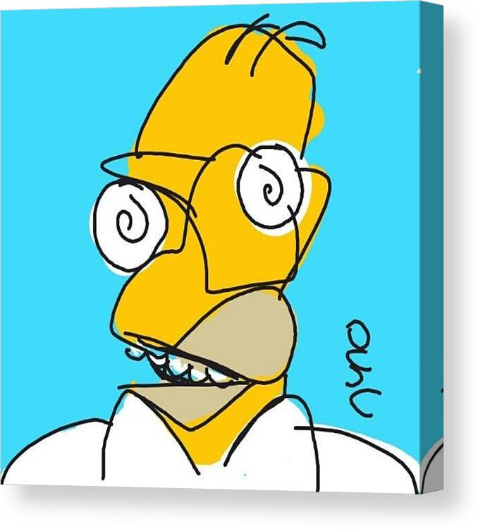 Homer Simpson Picasso Canvas Print