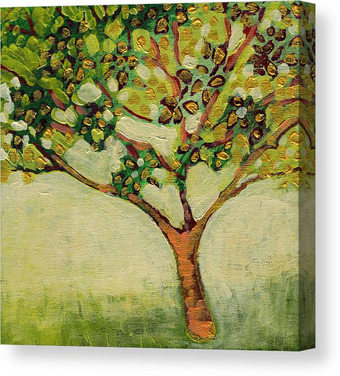Tree Canvas Print featuring the painting Plein Air Garden Series No 8 by Jennifer Lommers