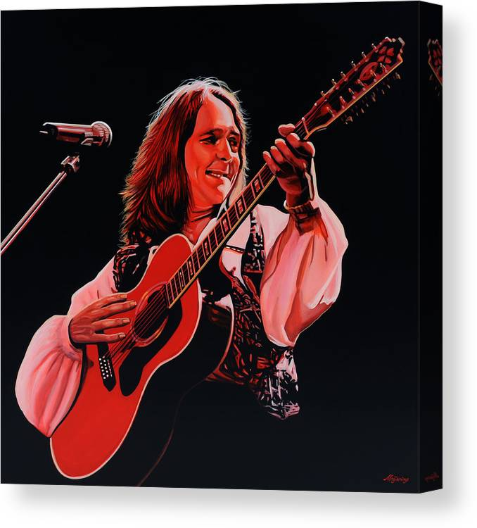 Roger Hodgson Canvas Print featuring the painting Roger Hodgson Of Supertramp by Paul Meijering