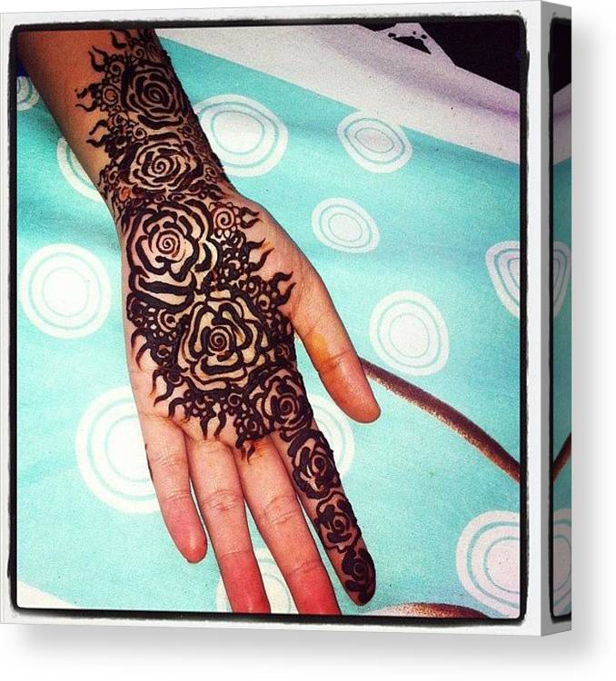 Rose Henna Tattoo Henna Mehndi Dubai Canvas Print Canvas Art By