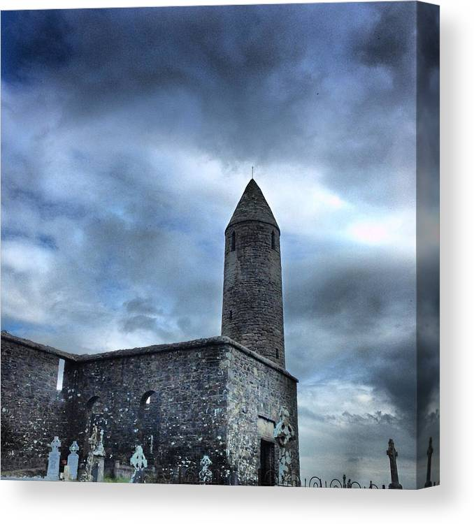 Old Canvas Print featuring the photograph Round Tower Ireland by Ronan Courell