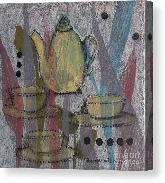 Rea Canvas Print featuring the painting Spot Of Tea by Robin Maria Pedrero