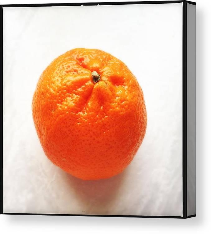 Tangerine Canvas Print featuring the photograph Tangerine by Matthias Hauser