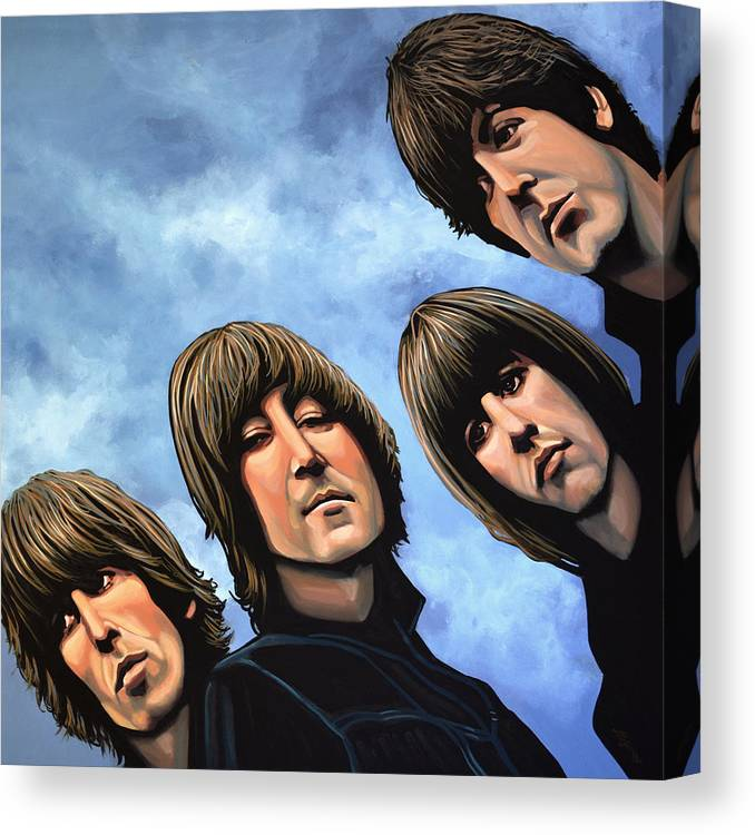The Beatles Canvas Print featuring the painting The Beatles Rubber Soul by Paul Meijering